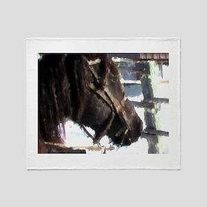 Work Horse 2 Throw Blanket