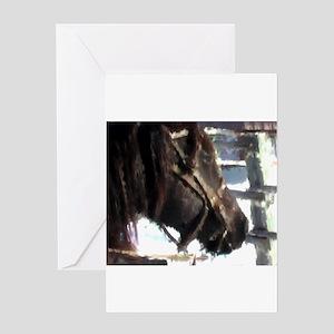 Work Horse 2 Greeting Card