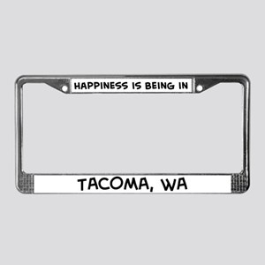Happiness is Tacoma License Plate Frame