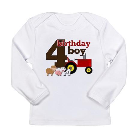 Farm/Tractor Birthday Boy Long Sleeve Infant T-Shi