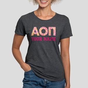Alpha Omicron Pi Pink Ye Womens Tri-blend T-Shirts
