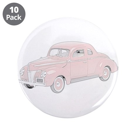 "Ford Deluxe 1940 -colored 3.5"" Button (10 pack)"