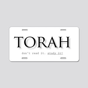 Torah Aluminum License Plate