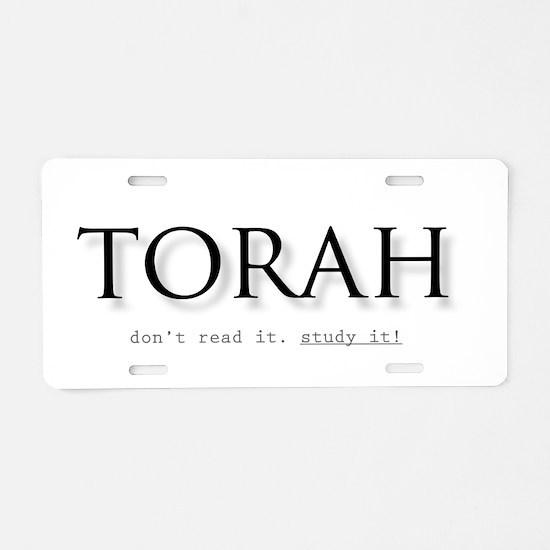 Torah Aluminum License Plate