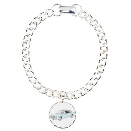 Ford Mustang Coupe 1964 -colo Charm Bracelet, One