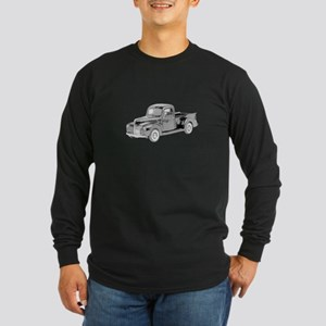Ford Pickup 1940 -colored Long Sleeve Dark T-Shirt