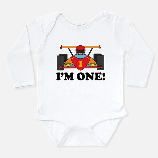 Racing Car 1st Birthday Long Sleeve Infant Bodysui