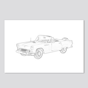 Ford Thunderbird Convertible Postcards (Package of