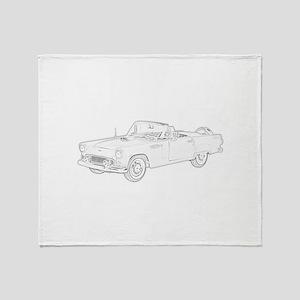 Ford Thunderbird Convertible Throw Blanket