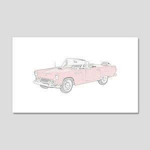 Ford Thunderbird Convertible 22x14 Wall Peel