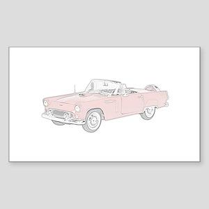 Ford Thunderbird Convertible Sticker (Rectangle)