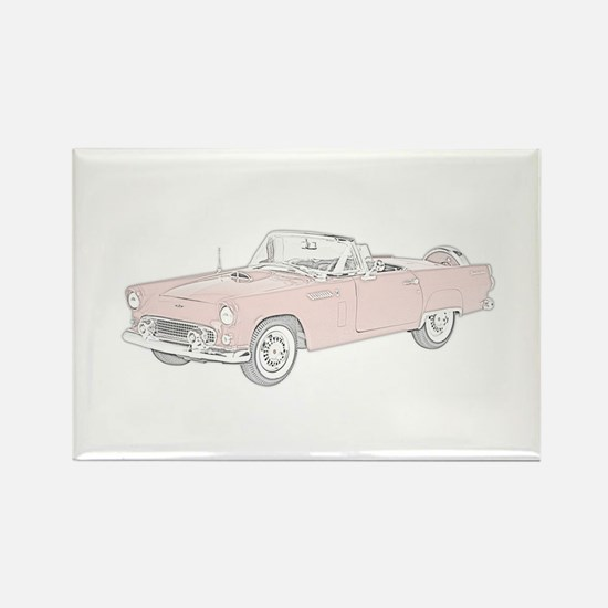 Ford Thunderbird Convertible Rectangle Magnet
