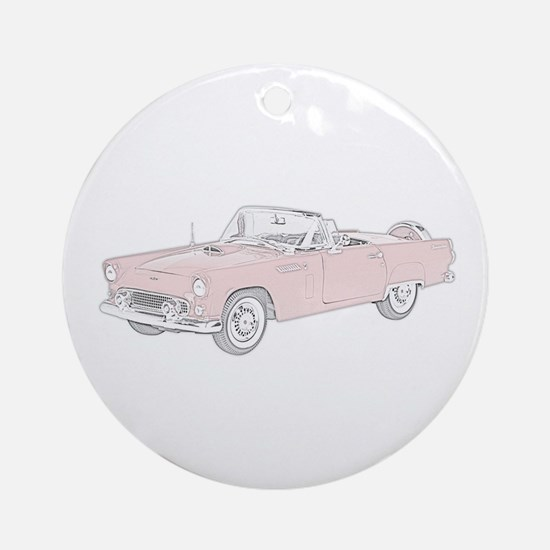 Ford Thunderbird Convertible Ornament (Round)