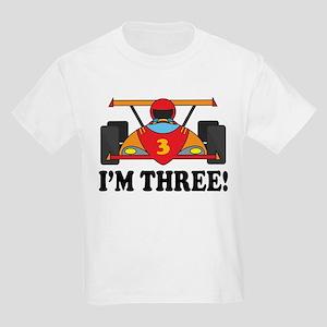 Racing Car 3rd Birthday Kids Light T-Shirt