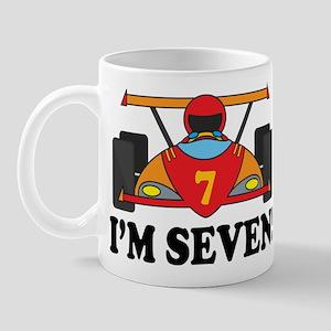 Racing Car 7th Birthday Mug