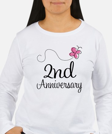 2nd Anniversary Gift Butterfly T-Shirt