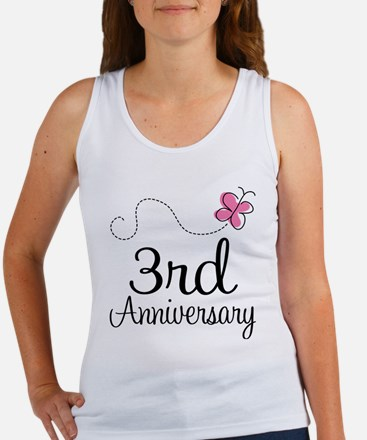 3rd Anniversary Gift Butterfly Women's Tank Top