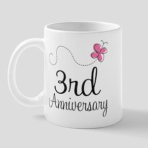 3rd Anniversary Gift Butterfly Mug
