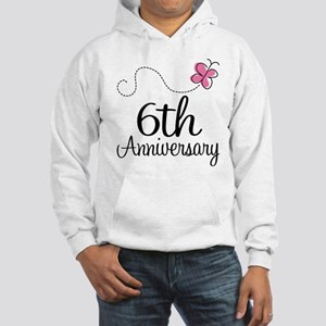 6th Anniversary Gift Butterfly Hooded Sweatshirt
