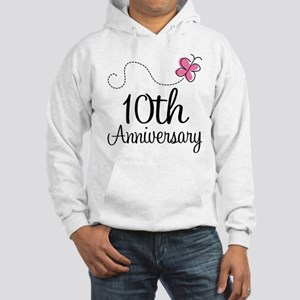 10th Anniversary Gift Butterfly Hooded Sweatshirt