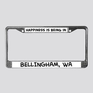 Happiness is Bellingham License Plate Frame