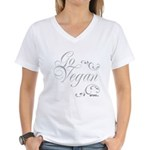 Go Vegan 1 - Women's V-Neck T-Shirt