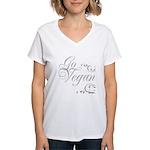 Go Vegan 1 - Women's V-Neck T-Shirt