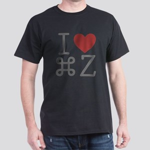 I Love Command Z Dark T-Shirt