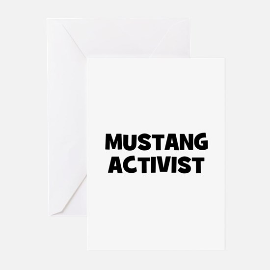 Mustang Activist Greeting Cards (Pk of 10)