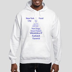 New York City Food Pyramid Hooded Sweatshirt