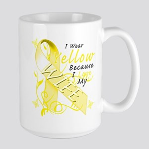 I Wear Yellow Because I Love Large Mug