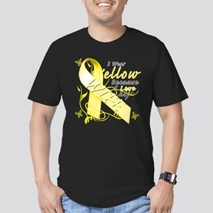 I Wear Yellow Because I Love Men's Fitted T-Shirt