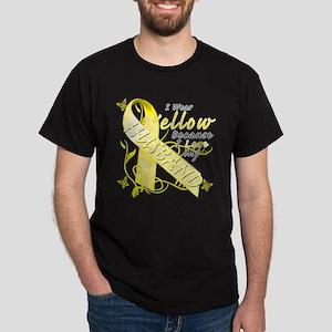I Wear Yellow Because I Love Dark T-Shirt