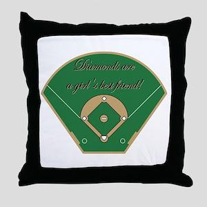 Diamonds, A Girls Best Friend Throw Pillow