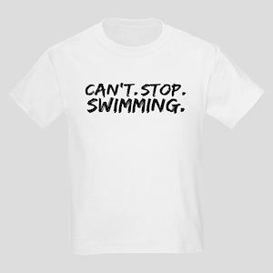 Can't Stop Swimming Kids Light T-Shirt