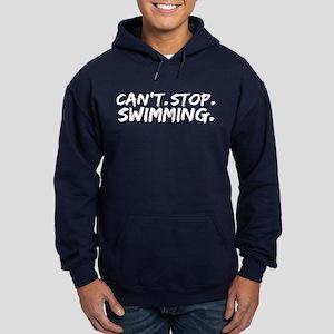 Can't Stop Swimming Hoodie (dark)