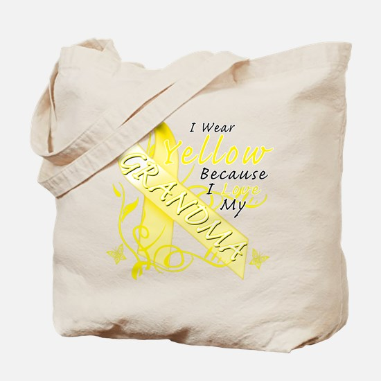 I Wear Yellow Because I Love Tote Bag