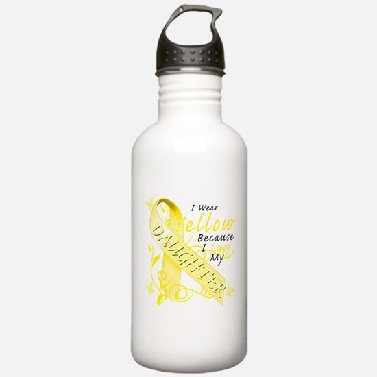 I Wear Yellow Because I Love Water Bottle