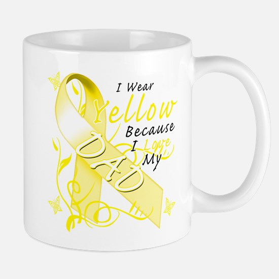 I Wear Yellow Because I Love Mug