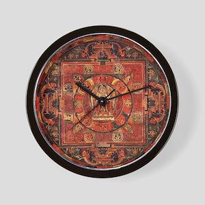 Compassion Mandala of Amoghapasa Wall Clock