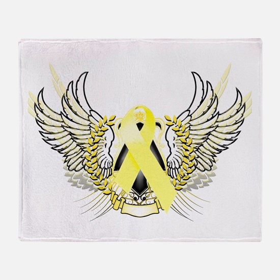 Awareness Tribal Yellow Throw Blanket