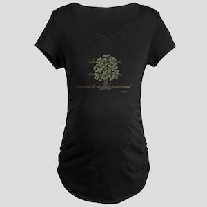 Buddha- Present Moment Maternity Dark T-Shirt