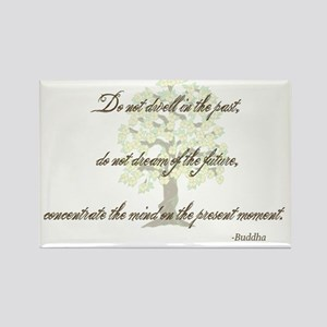 Buddha- Present Moment Rectangle Magnet