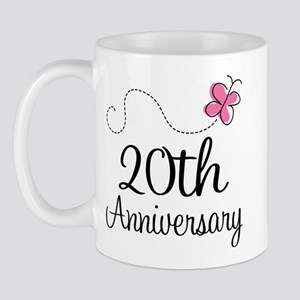 20th Anniversary Gift Butterfly Mug