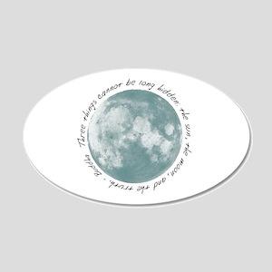 Buddha-Moon 22x14 Oval Wall Peel