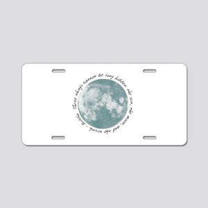 Buddha-Moon Aluminum License Plate