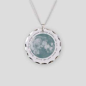 Buddha-Moon Necklace Circle Charm