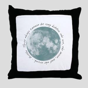 Buddha-Moon Throw Pillow