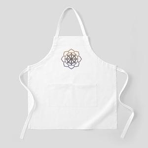 Dharma Wheel with Lotus Flowe Apron