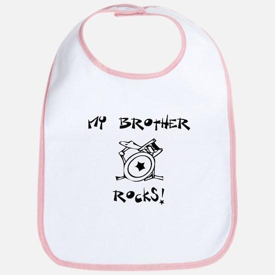 My Brother Rocks! (Drums) Bib